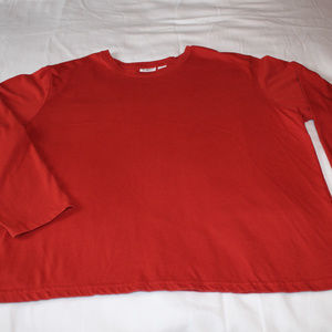 Cato Tops - CATO Red and Burnt Orange fall Long Sleeve XL